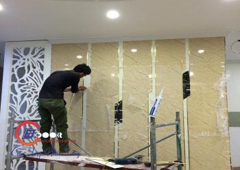 Thi công vật liệu PVC vân đá nội nội ngoại thất